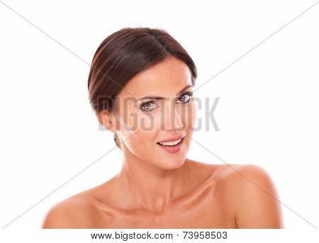 Beautiful Hispanic Woman Showing Her Femininity