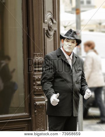 Sad Sight Of The Street Mime in Prague