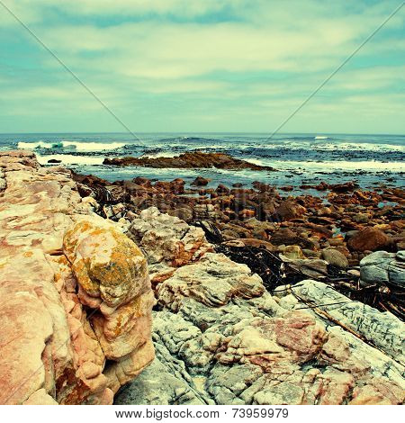 Rocks And Ocean Near Cape Of Good Hope(South Africa)