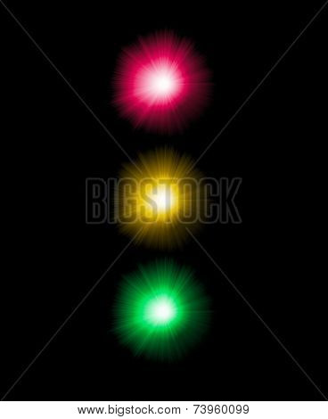 Abstract semaphore illustration. Traffic light