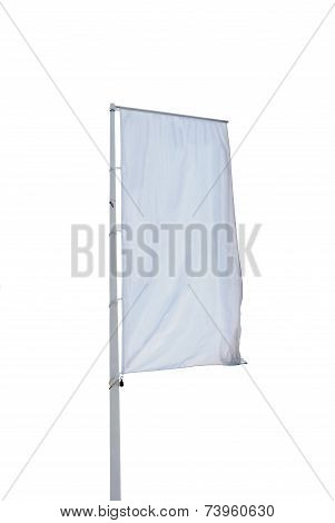 Empty Vertical Banner Isolated