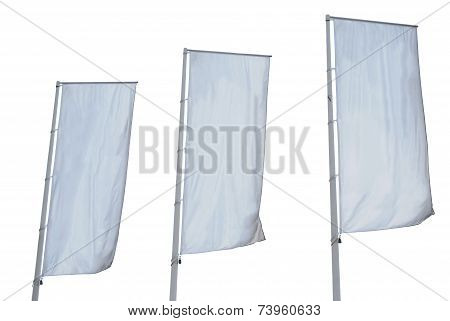 Tree Empty Banners Isolated