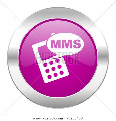 mms violet circle chrome web icon isolated