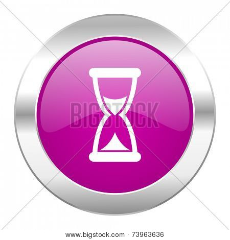 time violet circle chrome web icon isolated
