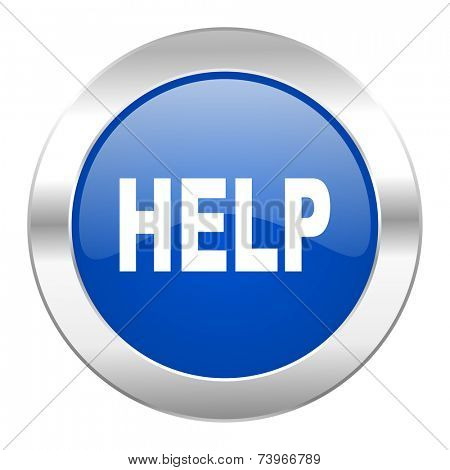 help blue circle chrome web icon isolated