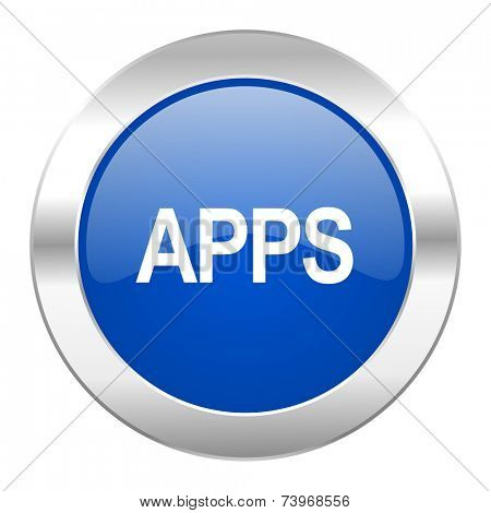 apps blue circle chrome web icon isolated