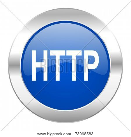 http blue circle chrome web icon isolated
