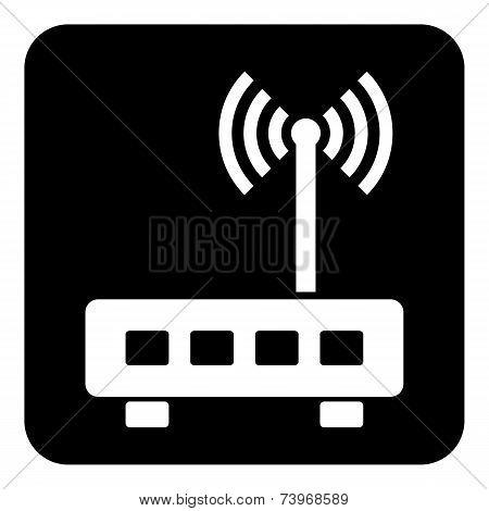 Router Symbol Button
