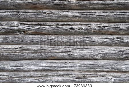 Texture Of Old Weathered Log Walls