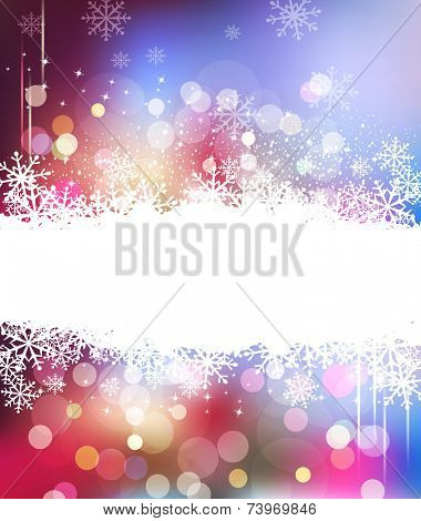 vector Christmas holiday background with snowflakes