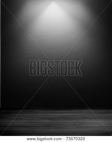 dark interior room