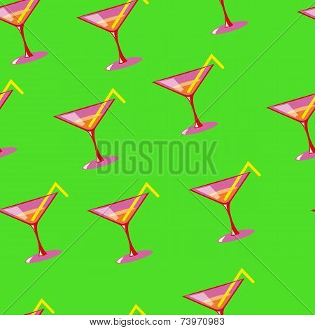 Martini seamless vector pattern