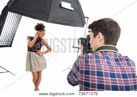Photo session of the great model