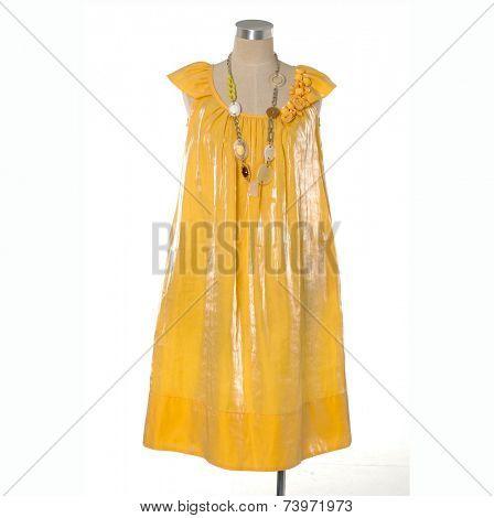 female sundress clothing on mannequin