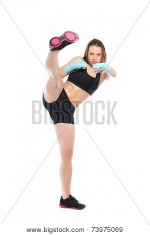 Young Woman In Sport Clothes