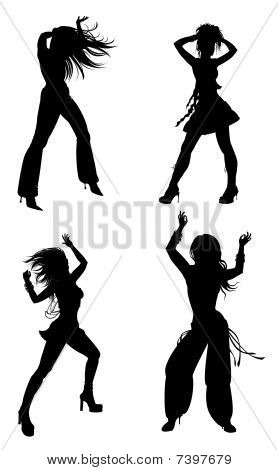 Silhouette Of Female Dance