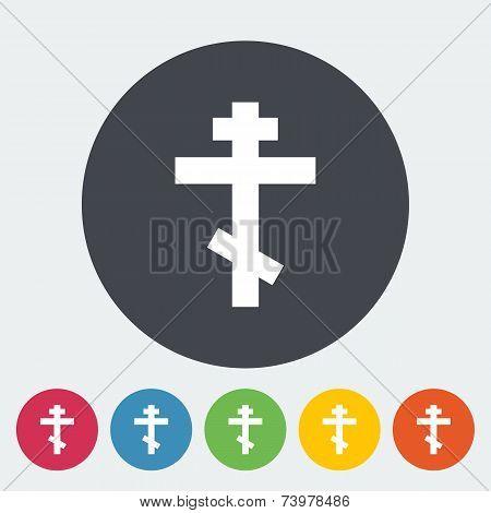 Cross single flat icon.