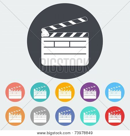Director clapperboard icon.
