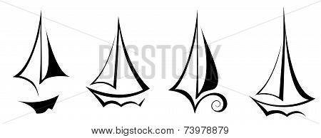 vector flat design sailing yacht boat transportation icon