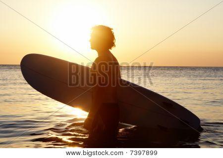 Surfer In Water
