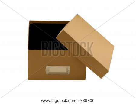 Empty brown box