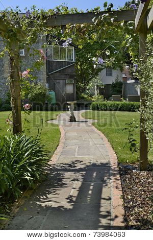 Garden Path Leading To House