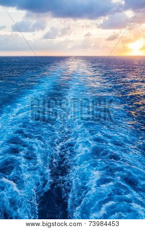 Sailing Away From Sunset