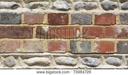 Brick And Flintstone Wall