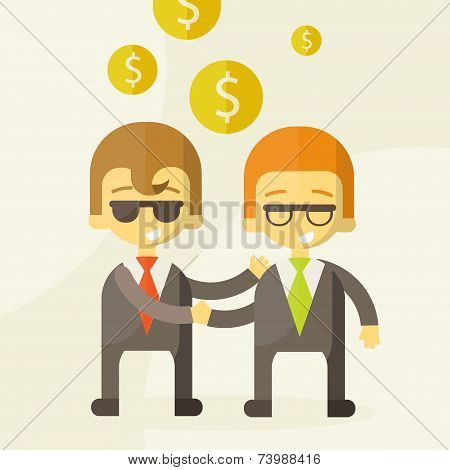 two man talking about business ,business