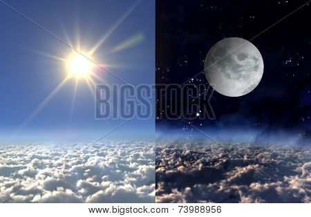 Sun Light Day And Moon Night