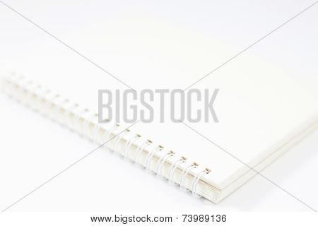 Spiral Notebook Isolated On White Background
