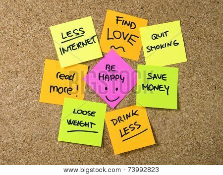 New Year Resolutions Post Notes