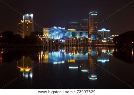 Minsk, Belarus - October, 2014: Business center of Minsk