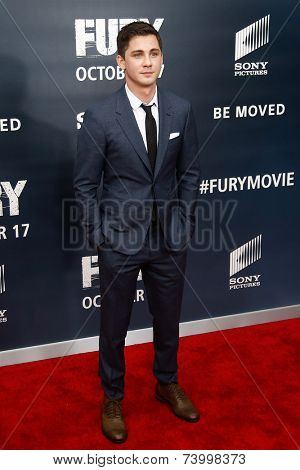 WASHINGTON, DC-OCT 15: Actor Logan Lerman attends the world premiere of