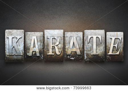 Karate Letterpress