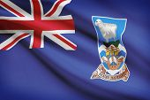foto of falklands  - Flag blowing in the wind series  - JPG