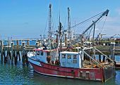 image of cape-cod  - An old fishing trawler at MacMillan Wharf in Provincetown, Cape Cod, USA.