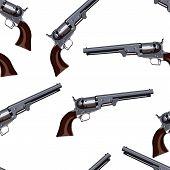 stock photo of revolver  - revolver vector seamless pattern illustration clip art - JPG