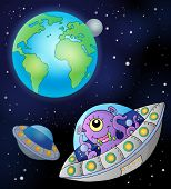 foto of flying saucer  - Flying saucers near Earth  - JPG
