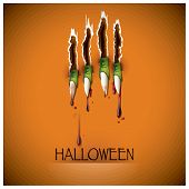 stock photo of claw  - Halloween Festival Claw And Blood Background Design - JPG