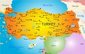 picture of armenia  - Vector color map of Turkey  - JPG