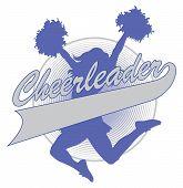 stock photo of cheerleader  - Illustration of a cheer design for cheerleaders - JPG
