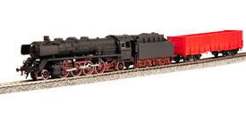 image of loco  - steam loco model isolated over white background - JPG