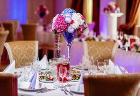 picture of banquet  - Luxury wedding banquet at restaurant - JPG