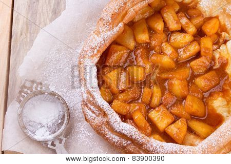 Dutch Baby Pancake With Apple.