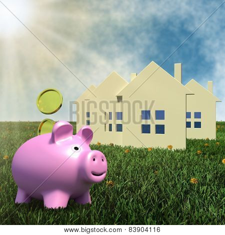 saving money for housing - finance concept