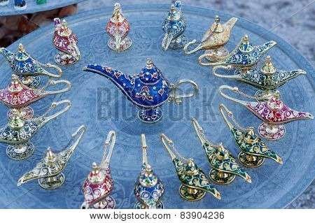 Colorful Oriental Oil Lamps