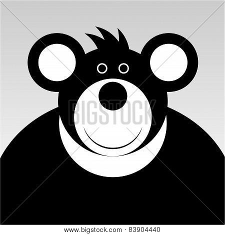 Smiling Cartoon Bear