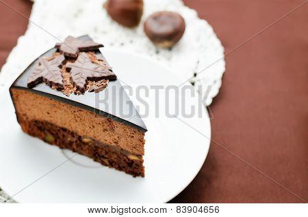 Truffle Cake With Chestnut Mousse
