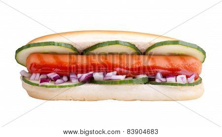 Hot Dog Including Clipping Path
